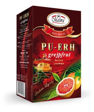 Herbata Czerwona PU-ERH - PU-ERH & grejpfrut