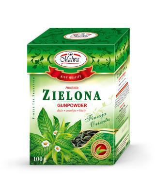 Herbata Zielona Liściasta Finezja Orientu - Zielona Gunpowder