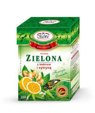 Herbata Zielona Liściasta Finezja Orientu - Zielona z Imbirem i Cytryną