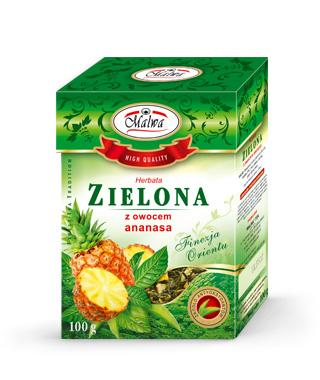 Green Teas Leafy Finesse of the Orient - Green Tea With Pineapple Fruit