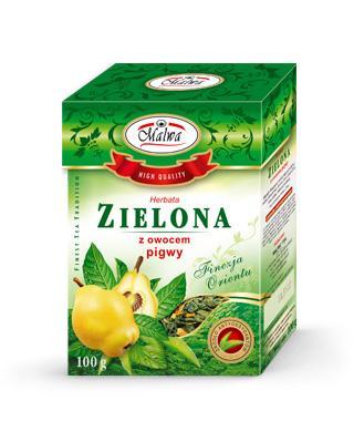 Herbata Zielona Liściasta Finezja Orientu - Zielona z Owocem Pigwy