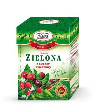 Herbata Zielona Liściasta Finezja Orientu - Zielona z Owocem Żurawiny