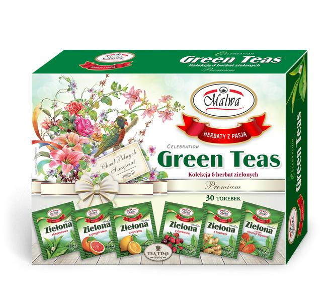 Bombonierka Celebration Green teas