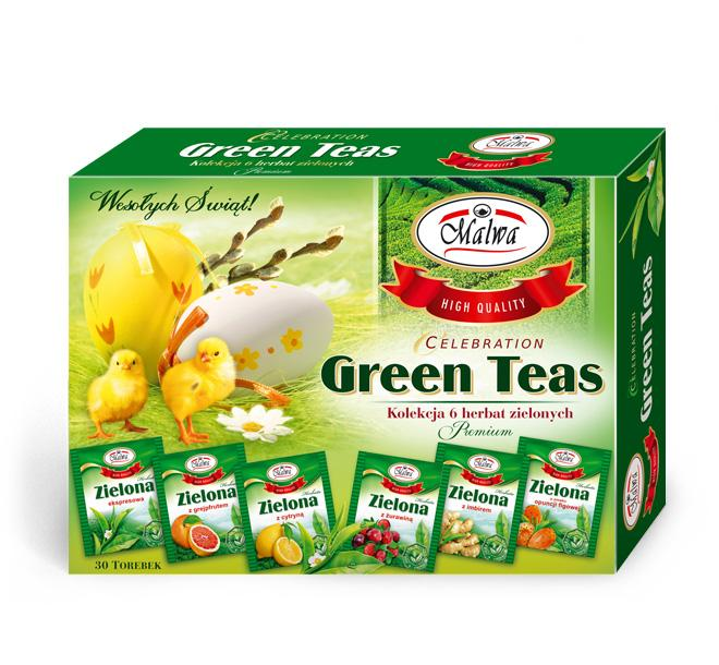 Bombonierka Celebration Green teas
