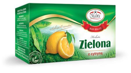 Herbata Zielona Ekspresowa - Zielona o smaku cytrynowym