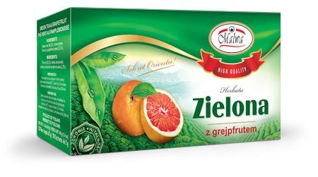 Herbata Zielona Ekspresowa - Zielona o smaku grejpfrutowym