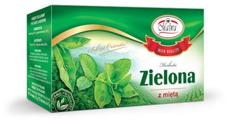 Herbata Zielona Ekspresowa - Zielona z miętą