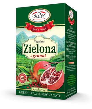 Green tea & Pomegranate