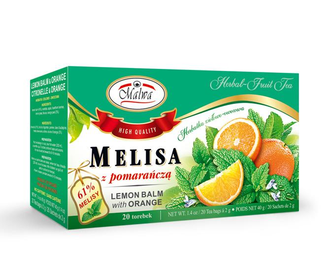 Herbal and fruit tea - Lemon Balm with Orange