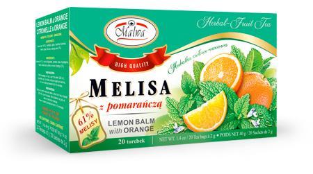 Herbata Ziołowa - Melisa z Pomarańczą