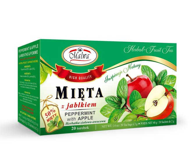 Herbal and fruit tea - Mint with Apple
